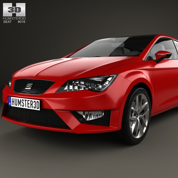 seat leon sc fr 2013 3d model. Black Bedroom Furniture Sets. Home Design Ideas