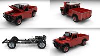 Full Land Rover Defender 110 Pick Up 3D Model