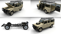 Full Land Rover Defender 110 Station Wagon 3D Model