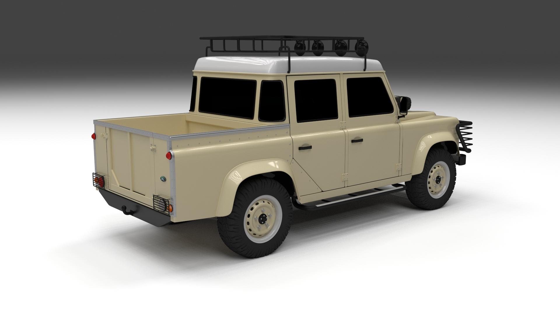 land rover defender 110 double cab pick up 3d model. Black Bedroom Furniture Sets. Home Design Ideas