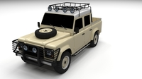 Land Rover Defender 110 Double Cab Pick Up 3D Model