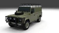 Land Rover Defender 110 Hard Top 3D Model
