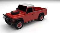 Land Rover Defender 110 Pick Up 3D Model