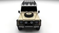 Land Rover Defender 110 Station Wagon 3D Model