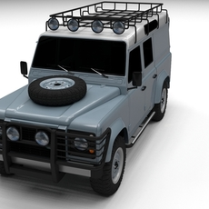Land Rover Defender 110 Utility Station Wagon 3D Model