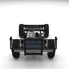 Full SUV Chassis 3D Model