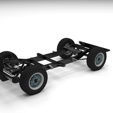 SUV Chassis 3D Model