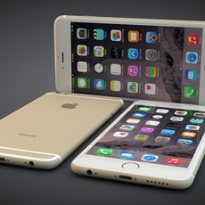 iPhone 6, all three colours 3D Model