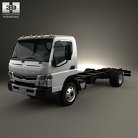 Mitsubishi Fuso Chassis Truck 2013 3D Model