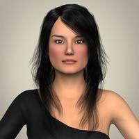 Realistic Beautiful Pretty Girl 3D Model