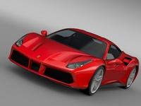 Ferrari GTB 488 2015 3D Model