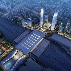 Railway terminal 008 3D Model