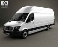 Mercedes-Benz Sprinter Panel Van ELWB SHR 2013 3D Model