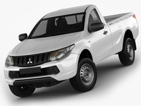 Mitsubishi L200 Triton 2015 Single Cab 3D Model