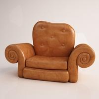 Armchair 01 3D Model