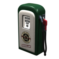 Vintage Gasoline Pump 3D Model
