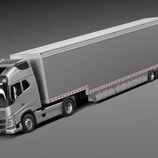Volvo FH16 Globtrotter Trailer 2015 3D Model