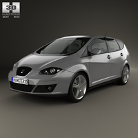 Seat Altea XL 2009 3D Model