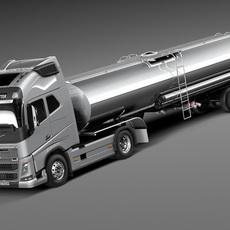 Volvo FH16 Globtrotter Tanker 2013-2015 3D Model