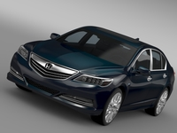 Honda Legend Hybrid 2015 3D Model