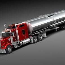Kenworth W900 Sleeper Cab Tanker 2014 3D Model