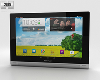 Lenovo Yoga Tablet 10 HD+ Silver 3D Model