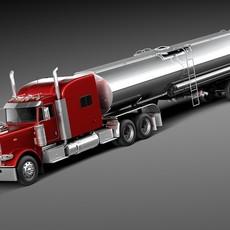 Peterbilt 389 Sleeper Cab Tanker 2015 3D Model