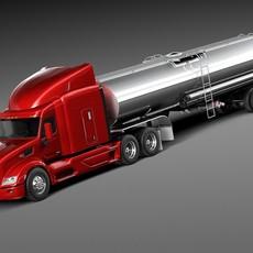 Peterbilt 579 Semi Truck Tanker 2012-2015 3D Model