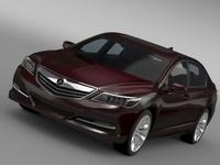 Acura RLX 2015 3D Model