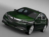 Acura RLX SH AWD 2015 3D Model
