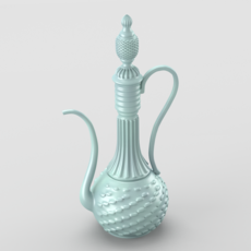 Shiny oriental jar 3D Model