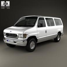 Ford E-Series Passenger Van 1998 3D Model