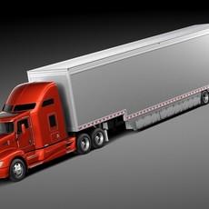 Kenworth T660 2015 Trailer 3D Model