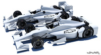 Indycar Chevrolet road and oval aero kit 3D Model
