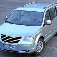 Chrysler Grand Voyager 2010 3D Model