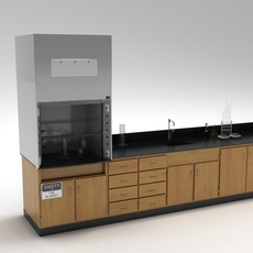 Laboratory Table 02 3D Model