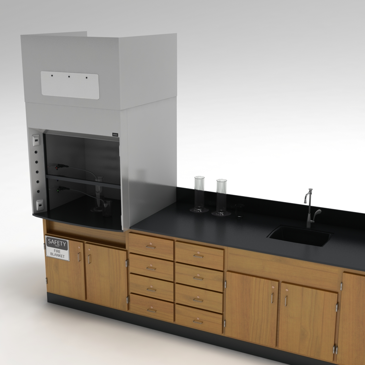 Laboratory table 02 3d model for Table th 00 02