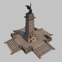 Bronze monument 3D Model