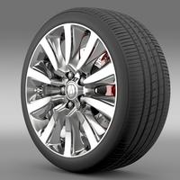 Acura RLX Sport Hybrid wheel 3D Model