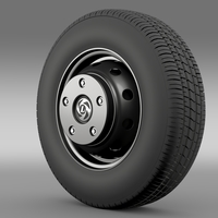 Ashok Leyland wheel 3D Model