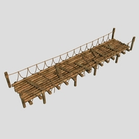 Wooden Bridge02 3D Model