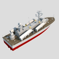 Russian Warship 3D Model