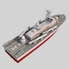 Vaspa Torpedo Boat 3D Model