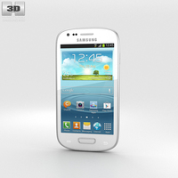 Samsung I8200 Galaxy S III Mini VE White 3D Model