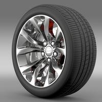 Chrysler 300 Limited 2015 wheel 3D Model