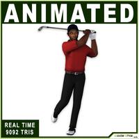 Black Golfer 9092 tris 3D Model