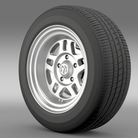 Dodge Challenger Mopar wheel 3D Model