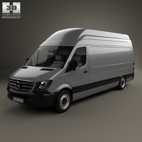 Mercedes-Benz Sprinter Panel Van LWB SHR 2013 3D Model