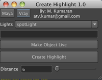 Free Create Highlight Tool for Maya 1.1.0 (maya script)