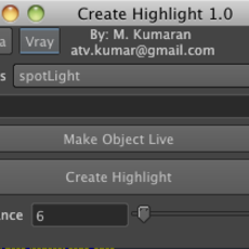 Create Highlight Tool for Maya 1.1.0 (maya script)